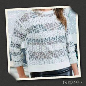 10 CROSBY DEREK LAM Hi Lo Jacquard Sweater
